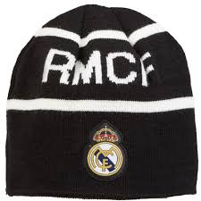 <b>Real Madrid</b> Reversible Knit Hat - <b>Black/White</b> - Mens