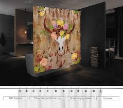 Skull Bathroom Decor Dream Catcher Skull Shower Curtain Bathroom Decoration Water