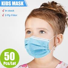 <b>10/50/100/200 Pcs</b> Children Face Mask Disposable Safe Breathable ...