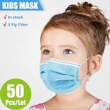 <b>10/50/100/200 Pcs</b> Children Face Mask Disposable Safe Breathable ...