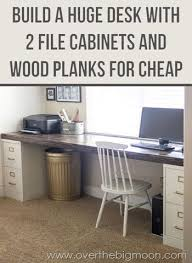 huge office desk how to build a huge desk with 2 file cabinets every single home bury style office desk desks