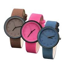 <b>Unisex</b> Fashion Number Watches Quartz <b>Canvas Belt</b> Wrist Watch ...