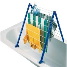 bathroom clothes dryer leifheit pegasus over bath clothes airer