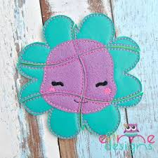 <b>Happy Flower Puzzle</b> Embroidery Design - 5x7 or Larger | Felt crafts ...