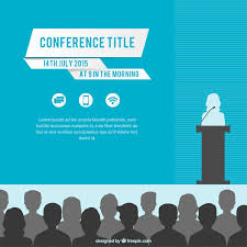 conference flyer template vector conference poster template