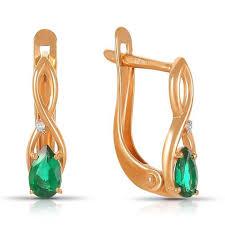 Золотые и серебряные <b>серьги</b> с <b>бриллиантами</b> — купить в ...