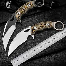 Karambit CS GO Tactical combat knife <b>D2 steel</b> sharp outdoor <b>self</b> ...