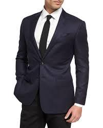 <b>Giorgio Armani Soft</b> Basic Wool Two-Button Sport Coat, Navy ...