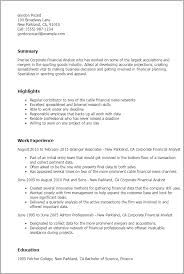 professional corporate financial analyst templates to showcase    resume templates  corporate financial analyst