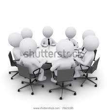 <b>3d</b> Men Sitting <b>Round Table</b> Having | Illustrations/Clip-<b>Art</b>, Business ...