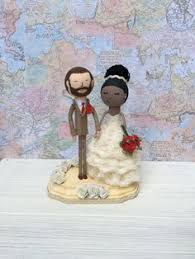 Adorable <b>wooden bride and groom</b> cake toppers | Darcy Miller ...