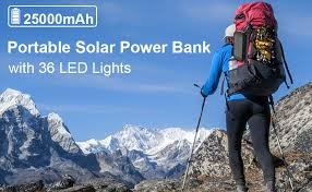 <b>Solar Charger</b>, 25000mAh Battery <b>Solar</b> Power Bank Portable <b>Panel</b>