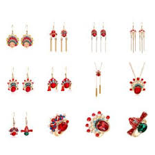 Famous People Chinese Style Peking Opera Face Earrings Vintage ...