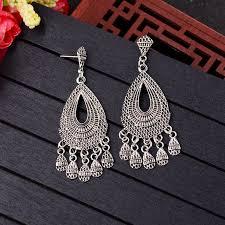 <b>TopHanqi</b> Boho <b>Indian Jhumka</b> Earrings <b>Jewelry</b> For Women ...