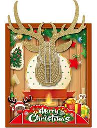 DIY Christmas Decoration 3D Reindeer Paper Puzzle ... - Amazon.com