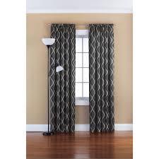 Kitchen Curtains At Walmart Mainstays Wave Room Darkening Polyester Curtain Panel Grey