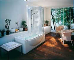 spa bathroom showers: bathroom elegant jacuzzi shower combination ideas offering everyday spa