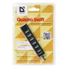 <b>Разветвитель USB Defender</b> Quadro Swift USB2.0, 7 портов (83203)