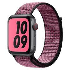 <b>Ремешок Krutoff Nylon</b> для Apple Watch 38/40mm (pink/black) 1 ...