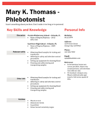 phlebotomy resume red phlebotomy resume