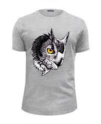 Футболка Wearcraft Premium Slim Fit <b>Owl</b> Gray #355073 от Troy ...