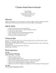 business systems analyst resume examples sle objective it system gallery of business systems analyst sample resume