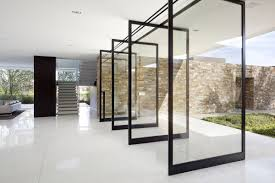 large sliding patio doors: large glass pivot doors from xten architecture