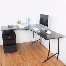 l shape large corner computer desk pc table corner home office desk black office desks