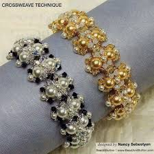 Free tutorial of cross weave technique - by diagram - Shiny bracelets ...