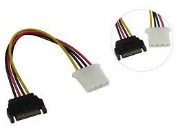 <b>Аксессуар</b> Кабель <b>SATA</b> Male to 2x <b>SATA Power</b> Connectors 15cm ...