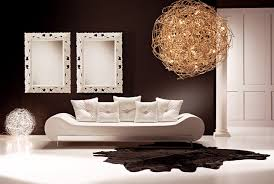 gorgeous white italian sofa in a dark chocalete room living room awesome italian sofas