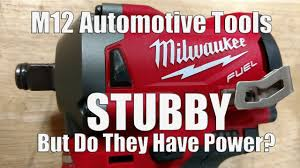 """Milwaukee M12 FUEL Stubby Impact Wrenches in 1/2"""" 3/8"""" <b>&</b> 1/4 ..."""
