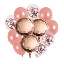 12 дюймов розовое золото конфетти латексный <b>букет шариков</b> с ...