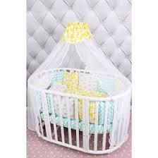 <b>Комплект в кроватку Happy</b> baby, 19 предметов, мятный/жёлтый ...