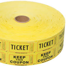 double raffle ticket roll yellow double raffle ticket roll