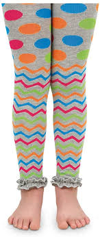 Jefferies <b>Socks</b> Little Girls Chevron <b>Ruffle</b> Footless Tights