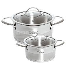 Набор посуды из нержавеющей стали <b>TalleR</b> TR-7146 (<b>кастрюли</b> ...