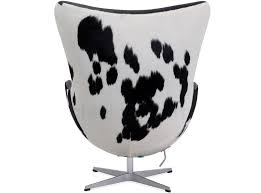 pictured in black white cowhide black aniline leather aniline leather arne jacobsen egg chair replica