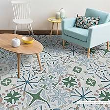 10pcs set portuguese style waterproof wallpaper adhesive floor decal wall stickers for livingroom bathroom home decoration