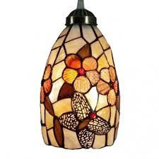 med single light floral tiffany shell made shade hallway mini pendant browse mini pendant orange