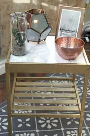 ideas bedside tables pinterest night: ikea bedside table hack nesna gold and marble