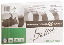 """<b>Бумага</b> """"<b>Ballet</b> Universal"""" (А4; 100 листов; 80 г/м2) для <b>принтера</b> ..."""