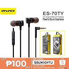 Original <b>AWEI ES</b>-<b>70TY</b> The Ultimate Portable Hi-Fi Earphones ...