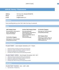 download  professional phlebotomy resumes templates  phlebotomy resume blue