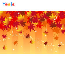 <b>Yeele Wallpaper</b> Red Maple Leaves Glitters stripes Photography ...