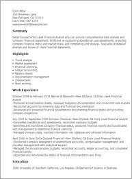 Resume Templates  Entry Level Financial Analyst My Perfect Resume