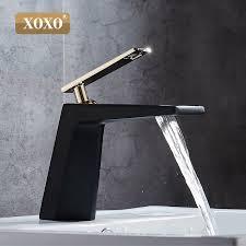 XOXO <b>black</b> white <b>bathroom</b> basinfaucet Hollow shape <b>bath</b> ...