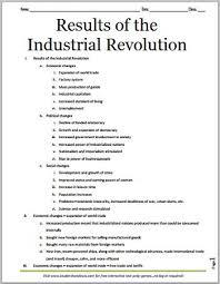 essay on the industrial revolutionindustrial revolution   industrial revolution  worksheets and     results of the industrial revolution