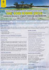 faculty of economics  the 10th international conference on business and management research icbmr
