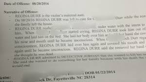 fayetteville w tried to kill toddler nephew for her family click on image to enlarge the court document
